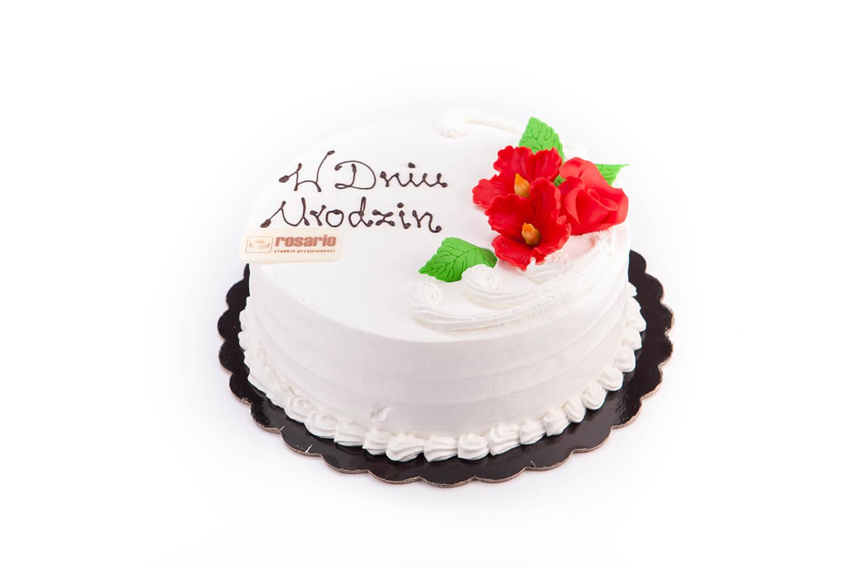 Tort Firmowy z Dekoracją Cukrową