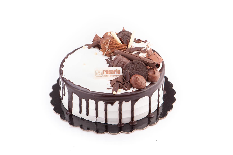 Tort Firmowy z Dekoracją Czekoladową