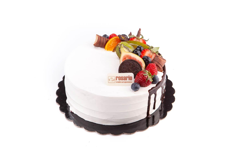 Tort Firmowy z Dekoracją Owocowo-Czekoladową