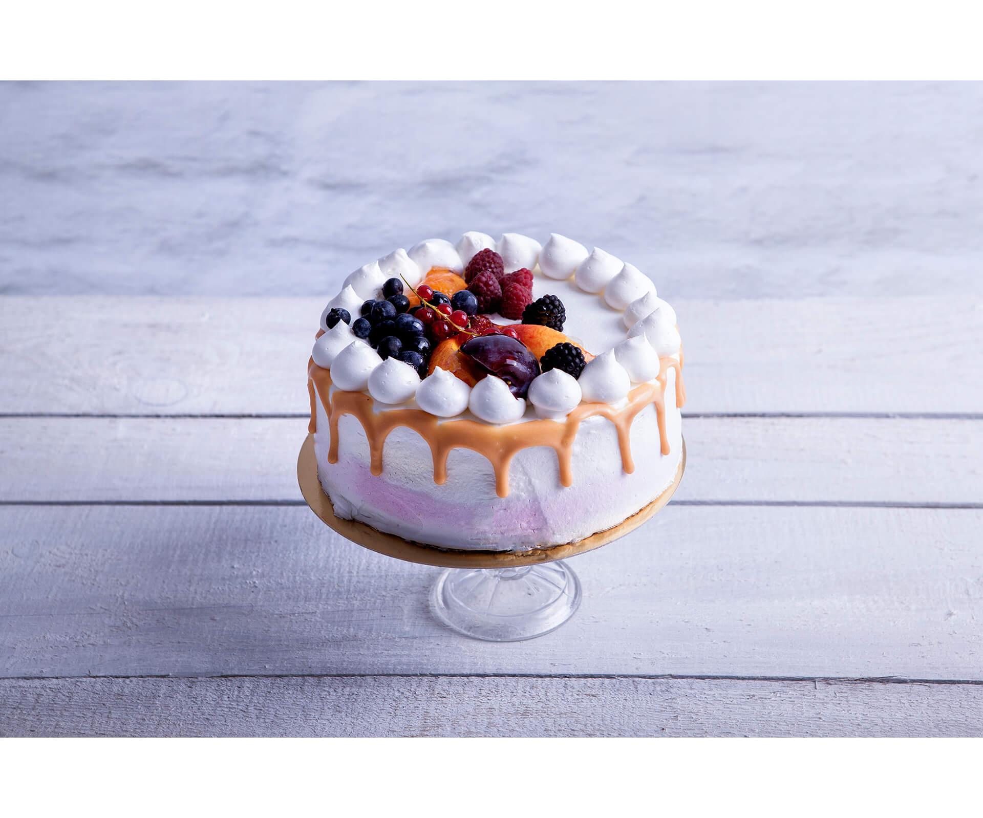 Tort Śmietanowo - Malinowy